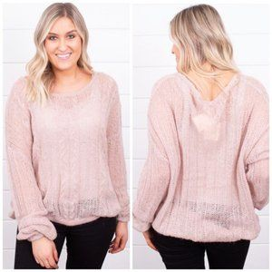 Free People Angel Soft Pullover Neutral Size XS